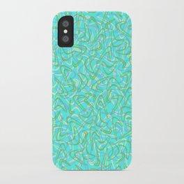 Boomerang Aqua iPhone Case