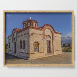 Orthodox Church In Cyprus Serving Tray