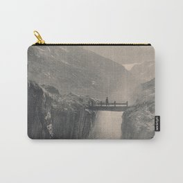 Boy on a Bridge Litho Carry-All Pouch