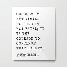 2  | Winston Churchill Quotes| 210607 | Metal Print