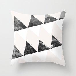 Cabin In The Rain Throw Pillow