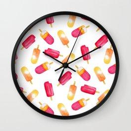 watercolor popsicle pattern Wall Clock