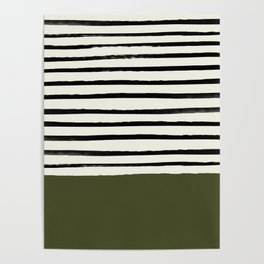 Olive Green x Stripes Poster