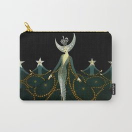 """Art Deco Design """"Queen of the Night"""" by Erté Carry-All Pouch"""