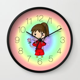 Spirit Away - Chihiro with flower Wall Clock