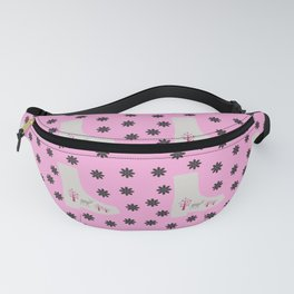 deer boots pink grey Fanny Pack