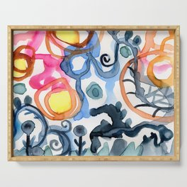 Abstraction Serving Tray