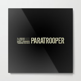 Black Flag: Paratrooper Metal Print