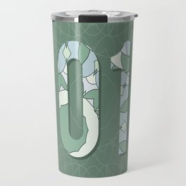 2017 year illustration decorated with abstract  decorative pattern in grey colors. Travel Mug