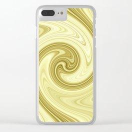 Molten gold swirls zen Clear iPhone Case