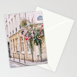 Parisian Flower Filled Street Stationery Cards