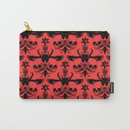 The Flying Black Cat Spell | damask | red devil Carry-All Pouch