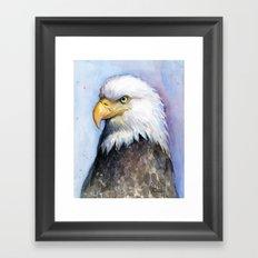 Bald Eagle Watercolor Bird Wildlife Animals Framed Art Print