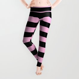 Stripes (Black & Pink Pattern) Leggings