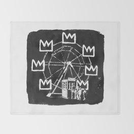Basquiat Sign Throw Blanket