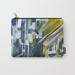 Green Blue Yellow Abstract 1 Carry-All Pouch