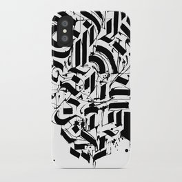 CALLIGRAPHY N°3 ZV iPhone Case