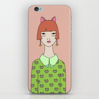 kit king iPhone & iPod Skins featuring kit by Sproot