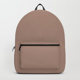 Light Coffee Brown Solid Color Pairs with Sherwin Williams Heart 2020 Color Redend Point SW 9081 Backpack