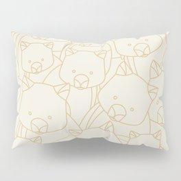Minimalist Wombat Pillow Sham