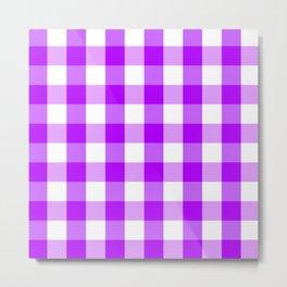Purple and white Tartan (Scotch) Pattern Metal Print
