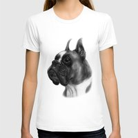 boxer T-shirts featuring Boxer  by Danguole Serstinskaja