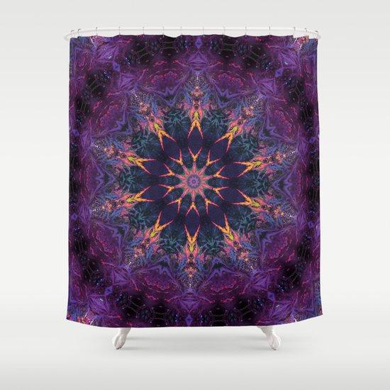 Leafy Mandala 2 Shower Curtain By Jellyfishtimes