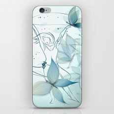 Le positive design dinamique du madame butterfly iPhone & iPod Skin