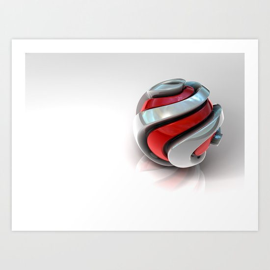 Spiral Ball Art Print