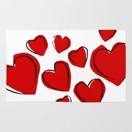 Drawing hearts (V-Day) Rug