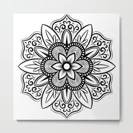 Mandala flower gifts for mandala fans Metal Print
