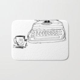 Earnest Hemingway Writing on Typewriter Bath Mat