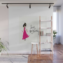 Love The Journey Girl in Pink Wall Mural