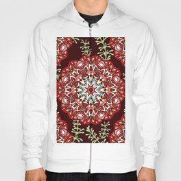 Boho Floral Mandela Pattern Hoody