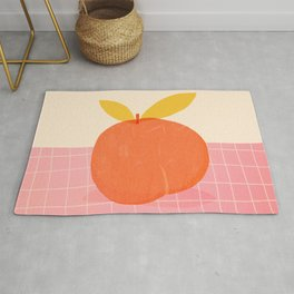 Abstraction_PEACH_LOVE_PINK_DRAWING_POP_ART_001A Rug