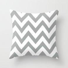 Gray Chevron Throw Pillow
