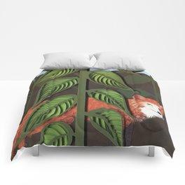 Fox paper art, hand drawn / paper quilling / cut paper Comforters