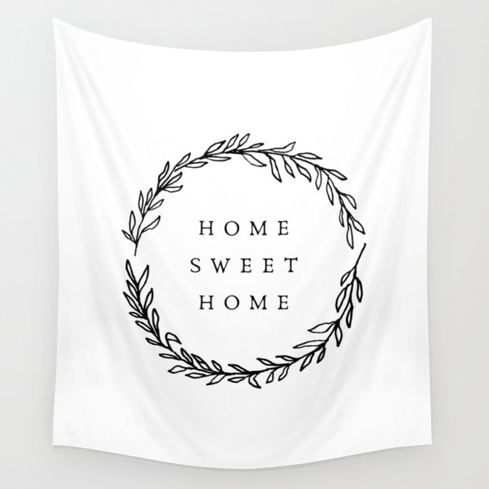 Home Sweet Home Wreath Wall Tapestry
