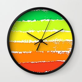 Paint Your Rainbow Wall Clock