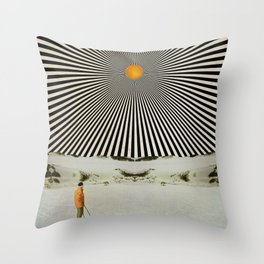 Solar butterfly Throw Pillow