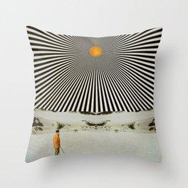 Solar butterfly Throw Pillow