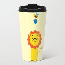 Lion and bee Travel Mug