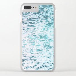 Faded Waves Clear iPhone Case