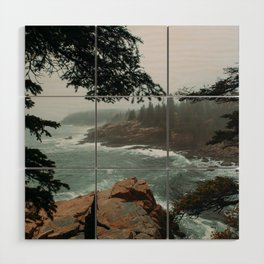 Foggy Morning in Acadia National Park Wood Wall Art