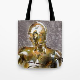 Gold Robot  Tote Bag