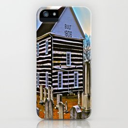 The Old Log Church iPhone Case