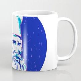 Angry Bearded Chef Circle Doodle Coffee Mug