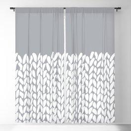 Half Knit Grey Blackout Curtain