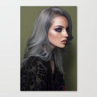 silver Canvas Prints featuring Silver by Brandon Lundby