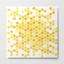 Beehive Pattern by Friztin Metal Print